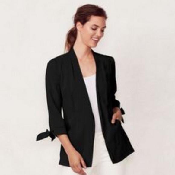 LC Lauren Conrad Jackets & Blazers - Lauren Conrad 3/4 tie sleeve black jacket size S.